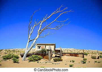 The Ghost city in Kolmanskop - Luderitz in Namibia