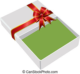 the gift box open