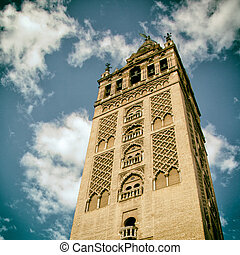 The Giralda of the Cathedral of Seville.