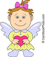 The girl-angel with heart