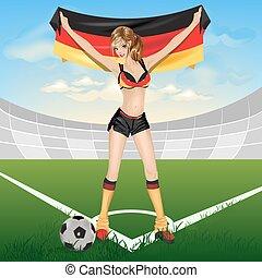 The girl germany soccer fan
