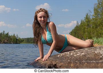 the girl in bikini
