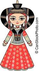 Historical clothes. Buryatia.