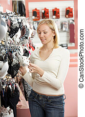 The girl in shop