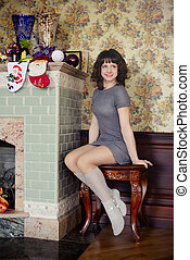 the girl in the fireplace new year