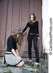The Girl Kneeling