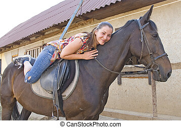 the girl on a horse