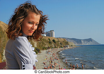 girl on coast