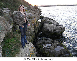 The girl on the rocks