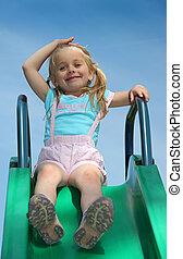 The Girl on the slide