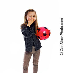 the girl with a ball