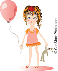 The girl with a balloon.