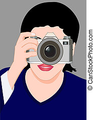 The girl with a camera