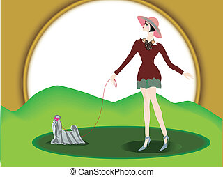 The girl with a doggie.1