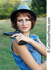 The girl with a pistol