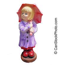 The girl with an umbrella
