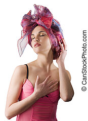 the girl with headscarf