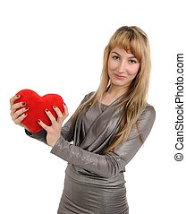 The girl with heart in hands