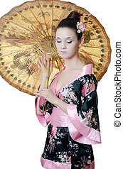 The girl with make-up of Japanese - The beautiful girl with ...