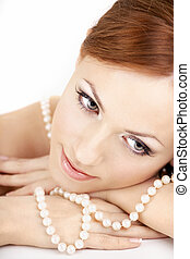 The girl with pearls