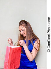 the girl with purchases