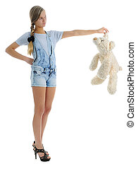 The girl with soft toy