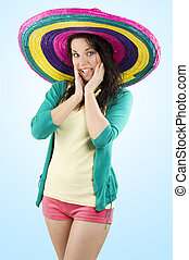 the girl with sombrero