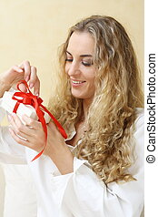 The girl with the present