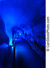 The glacier cave in Mt. Titlis area. - The glacier cave in...