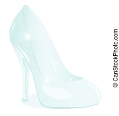 The Glass Slipper Background - A glass see through stiletto...