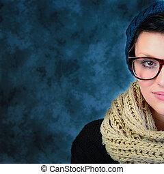 the glasses girl