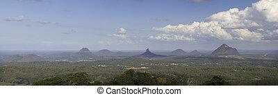 The Glasshouse Mountains, Queensland, Australia