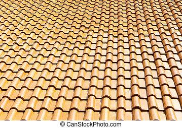 The glazed ceramic roof tile