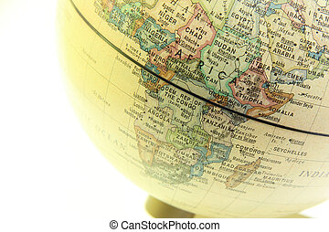 The globe close up, Africa past