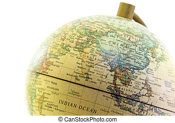 The globe close up, Asia past