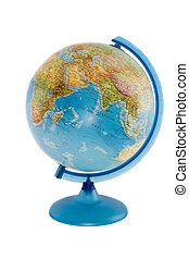 The globe isolated over white background