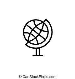 The globe line icon. vector illustration black on white background