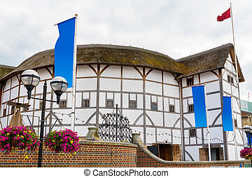 The Globe Theatre. London, England - The Shakespeare Globe...