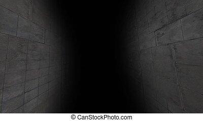 The gloomy corridor with darkness. 54 - The gloomy corridor...