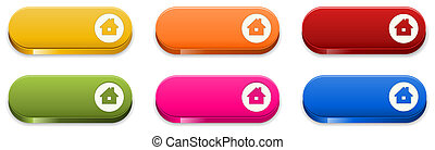 the glossy homepage button set