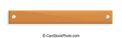 the glossy orange banner