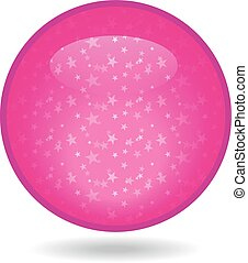The glossy pink circle with a star inside.