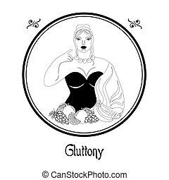 the gluttony sin black