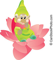 The gnome on a flower