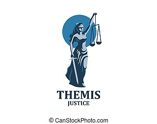 The goddess of justice Themis.