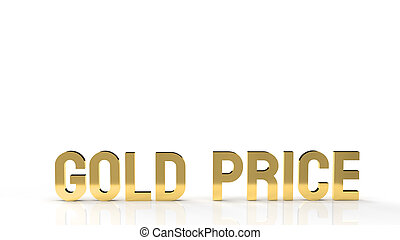 gold price word for gold market content 3d rendering