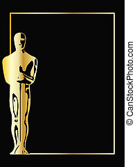 the gold vector statuette background eps 8