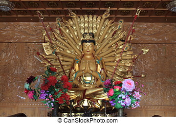 The Golden Buddha of Xian in China