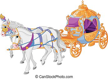 The golden carriage of Cinderella