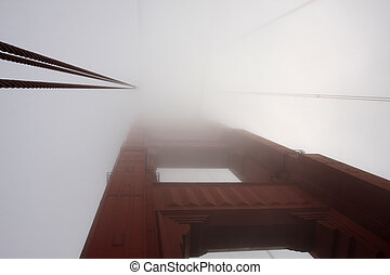 The Golden Gate Bridge in a Fog